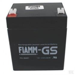 118120064/0BATTERIE FIAMM 12V 4.5AH FG20451 CABLE