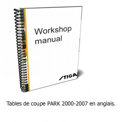 Manuel d'atelier, tables de coupe PARK 2000-2007 - Anglais