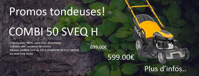 Stiga combi 50 SVEQ H en promotion!