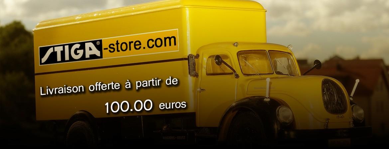 Transport gratuit dès 100 euros d'achat