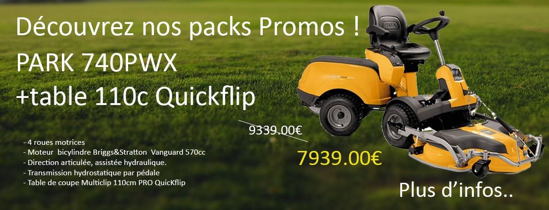 Découvrez notre Pack en promotion Park 740 PWX