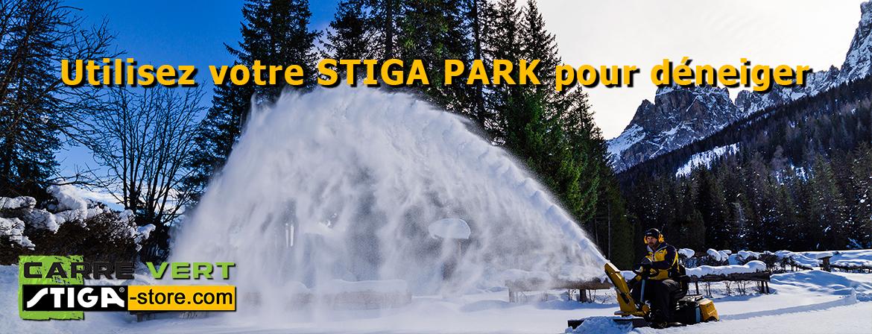Déneigez facilement grâce aux accessoires pour autoportées STIGA