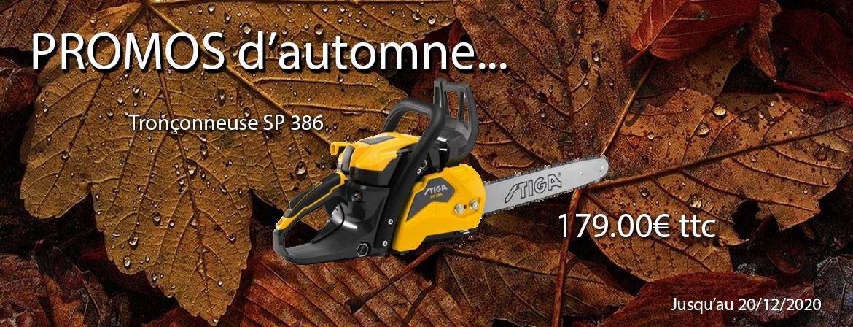 Promos d'automne STIGA Tronçonneuse SP386